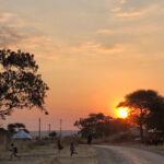 Africa, Tanzania, villaggio, bambini, tramonto, casa, panorami, paesaggi